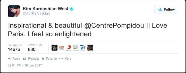 Kim Kardashian serait réconciliée avec Paris si le Centre Pompidou avait 40 ans de moins