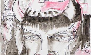 Autoportrait de Claude Nougaro réalisé en 1996.