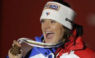 La championne du monde de descente Marion Rolland, le 10 février 2013 à Schladming, en Autriche.