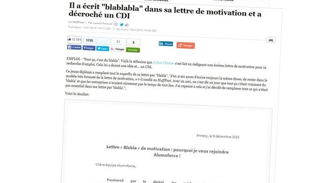 lettre de motivation combien de pages