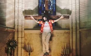 Frank Bellocq joue Jésus, alias José dans la série éponyme d'OCS.