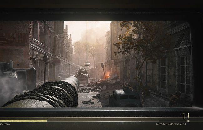 Dans les rues en ruine d'Aix la Chapelle aux commandes d'un cher Sherman.