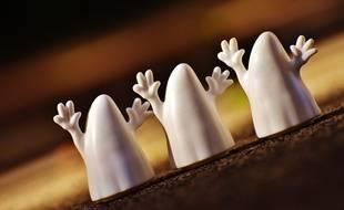 Des figurines de fantôme. Illustration.