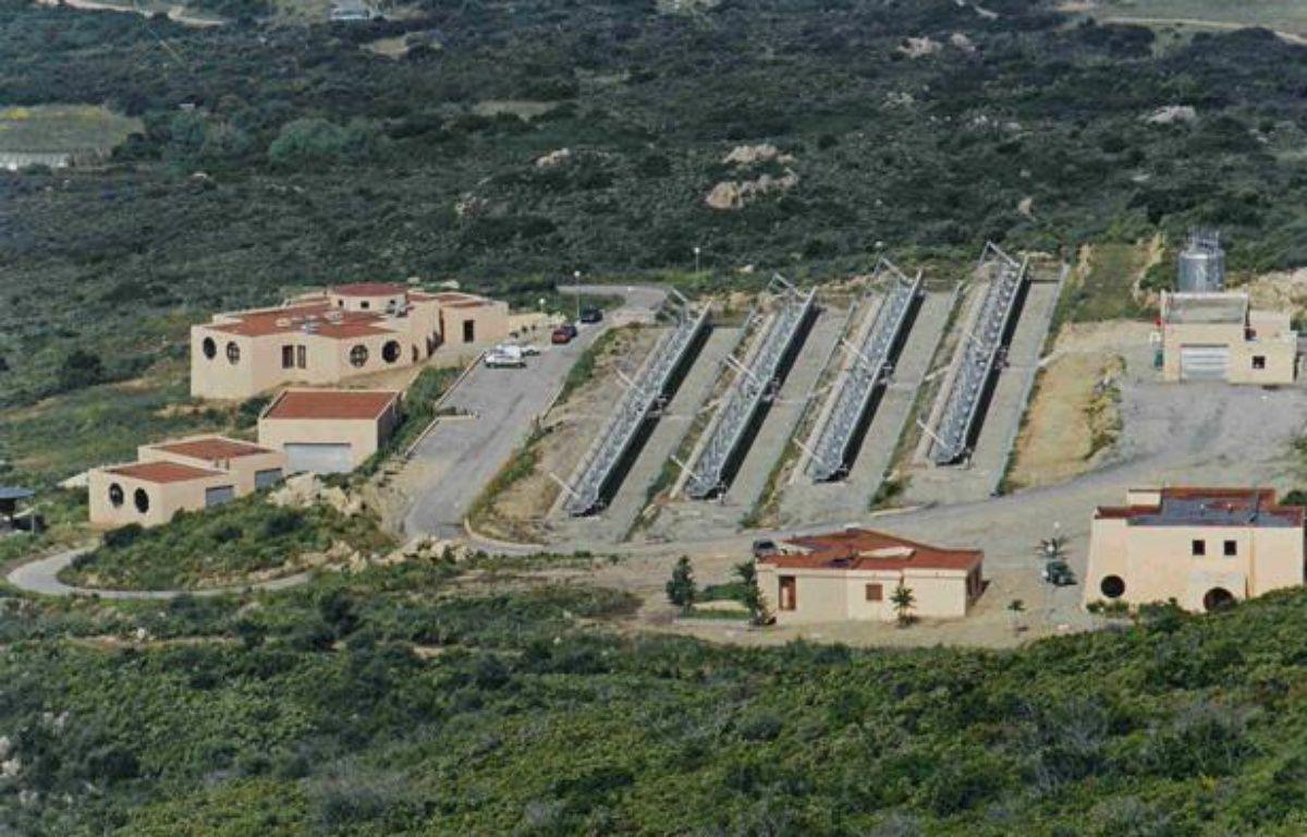 La centrale solaire de Vignola, près d'Ajaccio, installée dans le cadre du projet Myrte. – Université de Corse