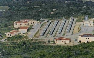 La centrale solaire de Vignola, près d'Ajaccio, installée dans le cadre du projet Myrte.