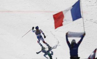 Pinturault, le 16 mars 2019, après sa victoire sur le géant de Soldeu.