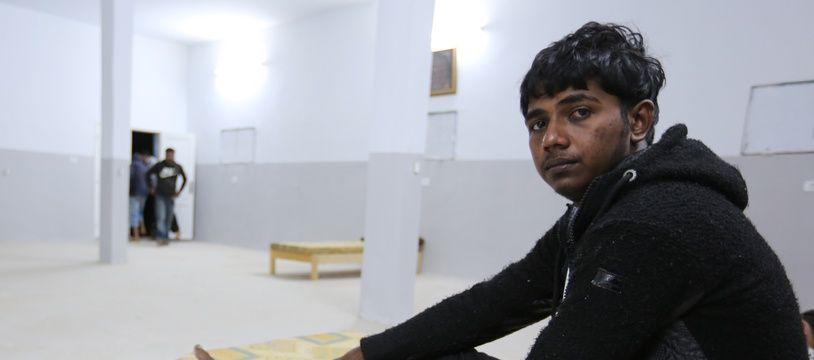 Un survivant du naufrage survenu au large de la Tunise, dans un foyer pour migrants, en Tunisie, le 11 mai 2019.
