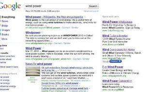 Le nouveau look de Google.com, dévoilé le 5 mai 2010