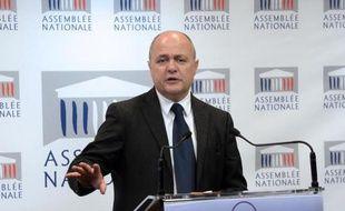 Le président du groupe PS Bruno Le Roux le 23 avril 2014 à l'Assemblée nationale à Paris
