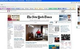 Internet Explorer 8, avec ses onglets de couleurs et sa prévisualisation des recherches