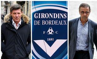 Nicolas Florian (à gauche) et Pierre Hurmic (à droite) montent au créneau à propos de la situation des Girondins de Bordeaux.