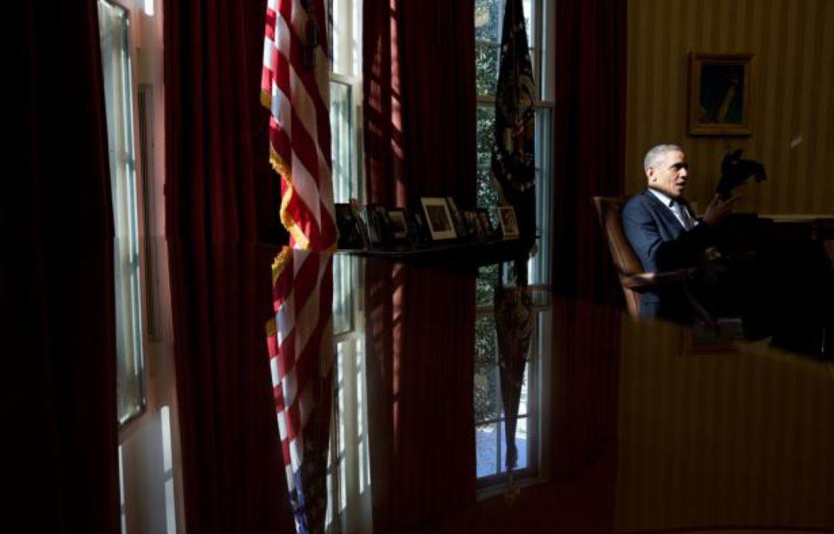Barack Obama dans le Bureau ovale de la Maison Blanche, le 15 mars 2013. – no credit