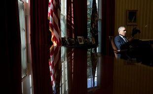 Barack Obama dans le Bureau ovale de la Maison Blanche, le 15 mars 2013.