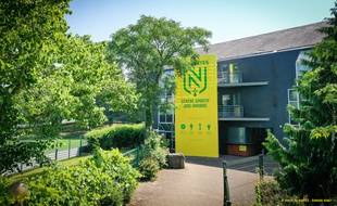 L'entrée de la Jonelière, le centre d'entraînement du FC Nantes.