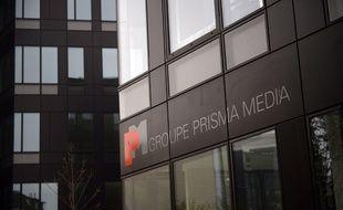 Le bâtiment abritant le groupe Prisma Media à Gennevilliers, près de Paris.