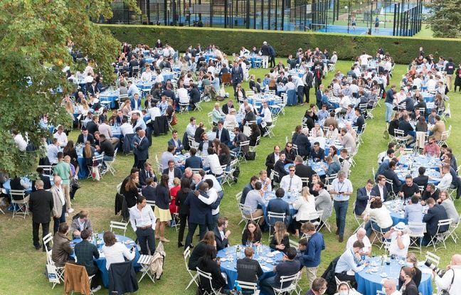 Le déjeuner organisé lors de la rentrée des Républicains au Port-Marly (Yvelines), le 5 septembre 2020.