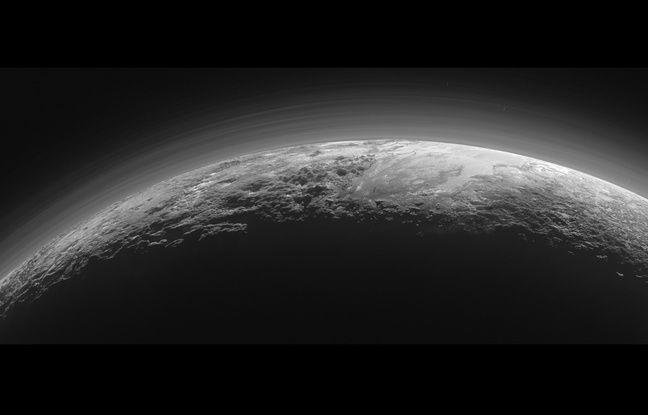 Image de Pluton capturée par la sonde New Horizons.