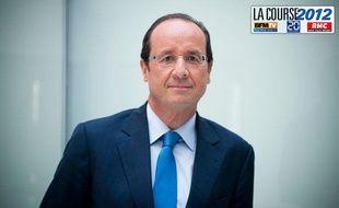 François Hollande dans ses bureaux de l'Assemblée Nationale.