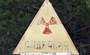 Un panneau avertissant d'une pollution radioactive en Russie, en 2005 (illustration).