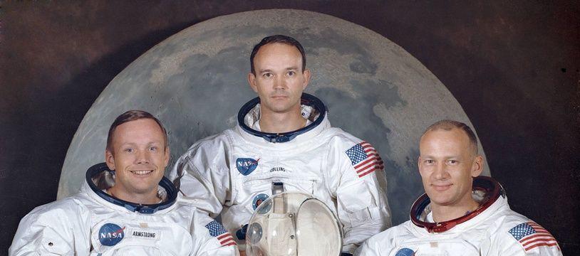 """De gauche à droite, les astronautes de la mission Apollo 11,  Neil Armstrong, Michael Collins et Edwin E. """"Buzz"""" Aldrin."""