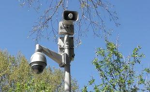 La caméra haut-parleur du quai de la Daurade, à Toulouse.