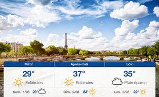 Météo Paris: Prévisions du vendredi 31 juillet 2020