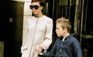 Victoria et Brooklyn Beckham.