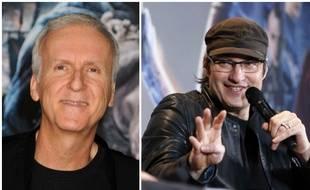 Les deux cinéastes James Cameron et Robert Rodriguez.