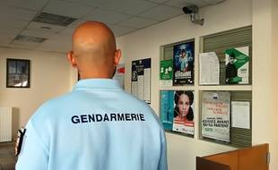 Un gendarme. (Illustration)