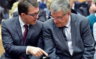 Christophe Clergeau et Jacques Auxiette  / AFP / GEORGES GOBET