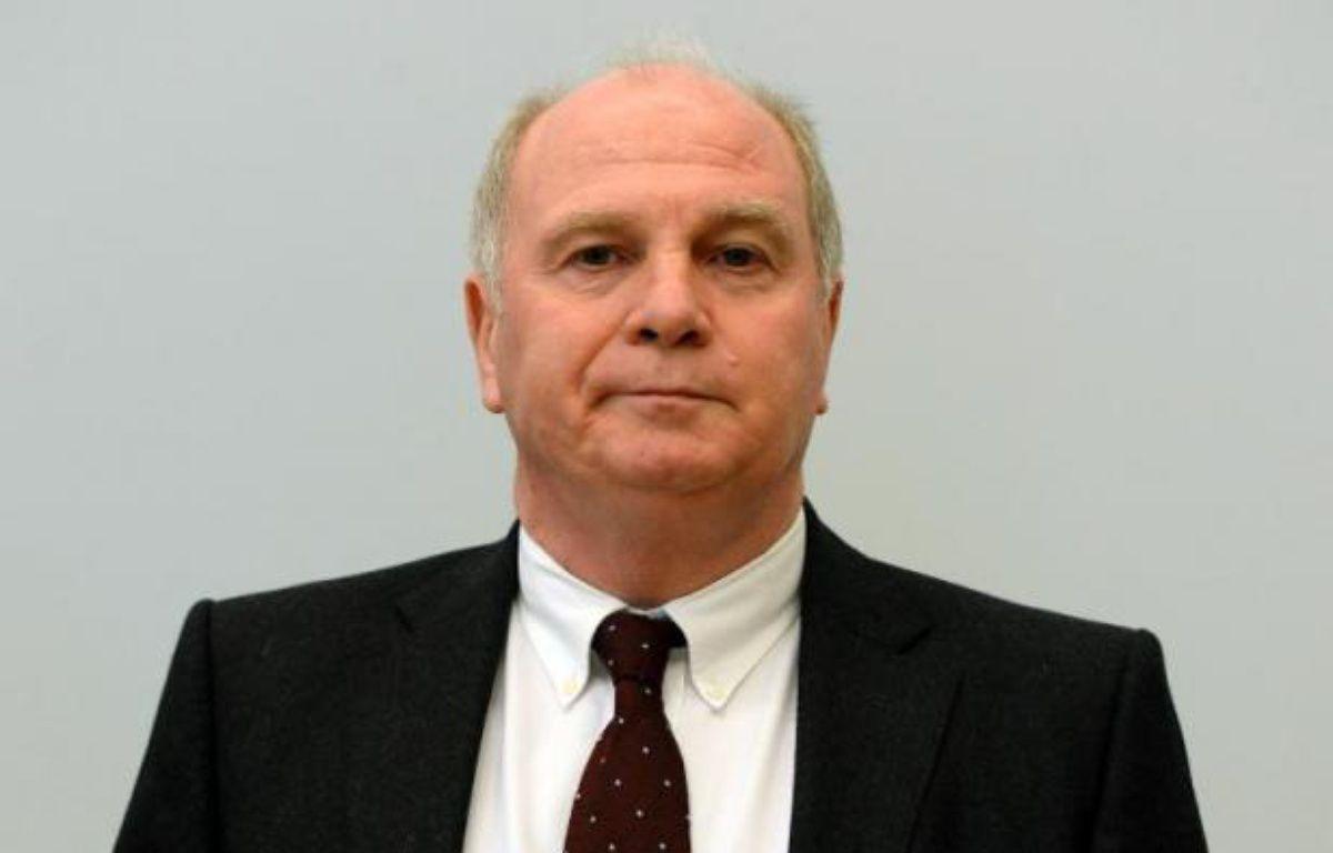 Le président du Bayern Munich, Uli Hoeness, le 13 mars 2014 au tribunal régional de Munich – Christof Stache