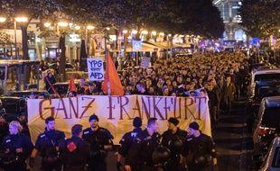 Manifestation contre l'AfD à Francfort, le 24 septembre 2017.