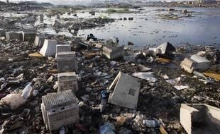 Décharge de déchets électroniques au Ghana.
