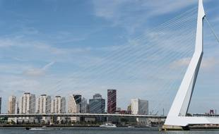 Une vue de Rotterdam (Pays-Bas).