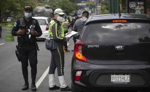 Un contrôle de police à Guatemala City (illustration).