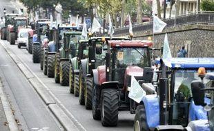 Les agriculteurs quittent la capitale, le 3 septembre 2015