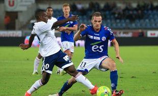 Arrivés en même temps à Strasbourg, Dimitri Liénard (au premier plan) et Jérémy Grimm (au second) ont su s'adapter pour se mettre au niveau, année après année, jusqu'aux portes de la Ligue 1.