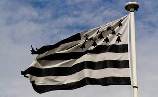 Illustration d'un drapeau breton.