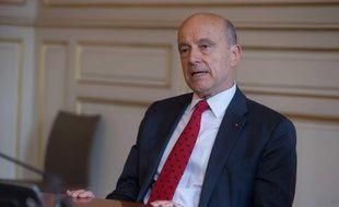 Alain Juppé après sa réélection à la mairie de Bordeaux, le 28 mars 2014.