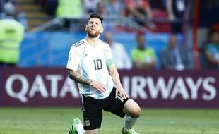 Lionel Messi à la fin du match entre l'Argentine et la France au Mondial 2018.