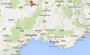 Google map du Puy-en-Velay (Haute-Loire).