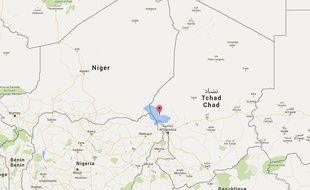 Carte de localisation de Baga Sola, sur le lac Tchad.