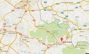 La ville de Marly, dans la banlieue de Valenciennes.