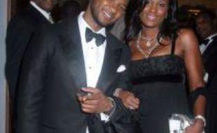 Usher et Tameka Foster à Las Vegas le 22 janvier 2007.