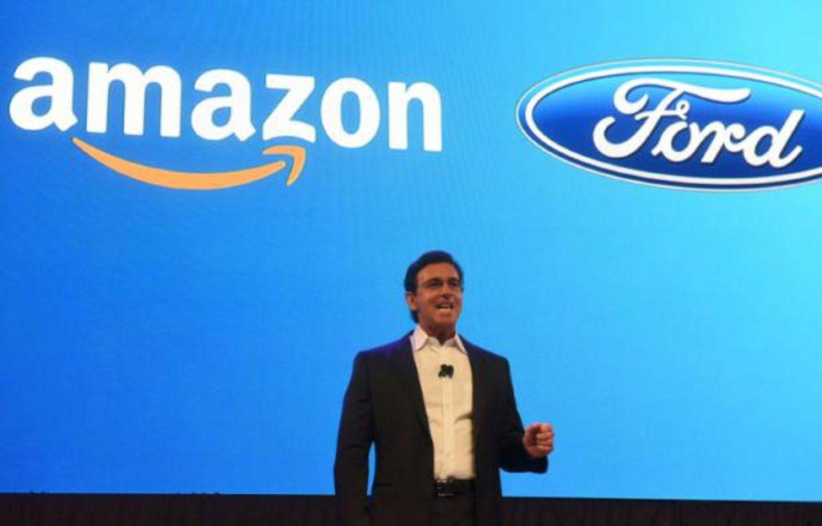 Le patron de Ford, Mark Fields, à Las Vegas le 5 janvier 2016 – ROBYN BECK AFP