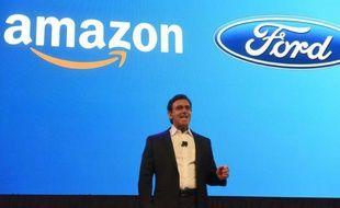 Le patron de Ford, Mark Fields, à Las Vegas le 5 janvier 2016