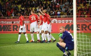 Un penalty de Fabinho a permis à Monaco de l'emporter in extremis contre Saint-Etienne, le 12 mai 2018.
