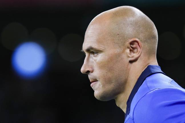 Sergio Parisse, le capitaine du XV d'Italie, lors du match contre l'Afrique du sud le 4 octobre 2019.