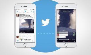 Les vidéos Periscope sont intégrés au fil Twitter sur iOS.