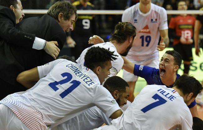 VIDEO. JO 2020 : Vu de derrière, le service dingue de Ngapeth qui envoie les Bleus du volley à Tokyo